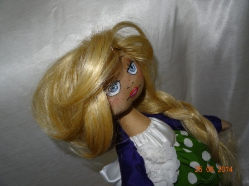 кукла интерьерная текстильная снежка