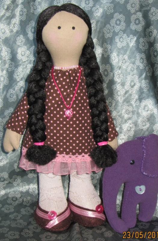 Анюта - кукла ручной работы.