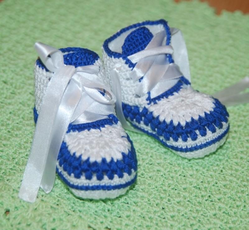 Пинетки - ботиночки Гжель