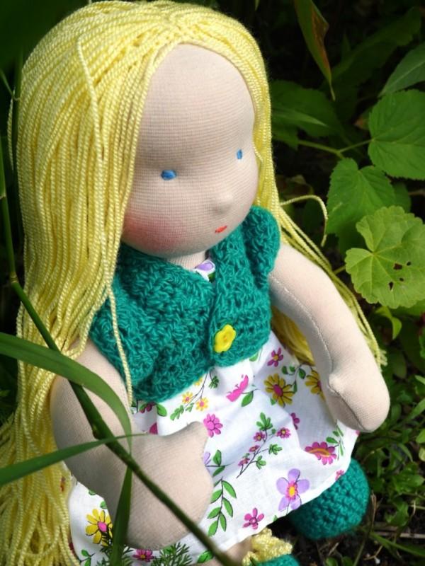 кукла Незабудка по вальдорфским мотивам
