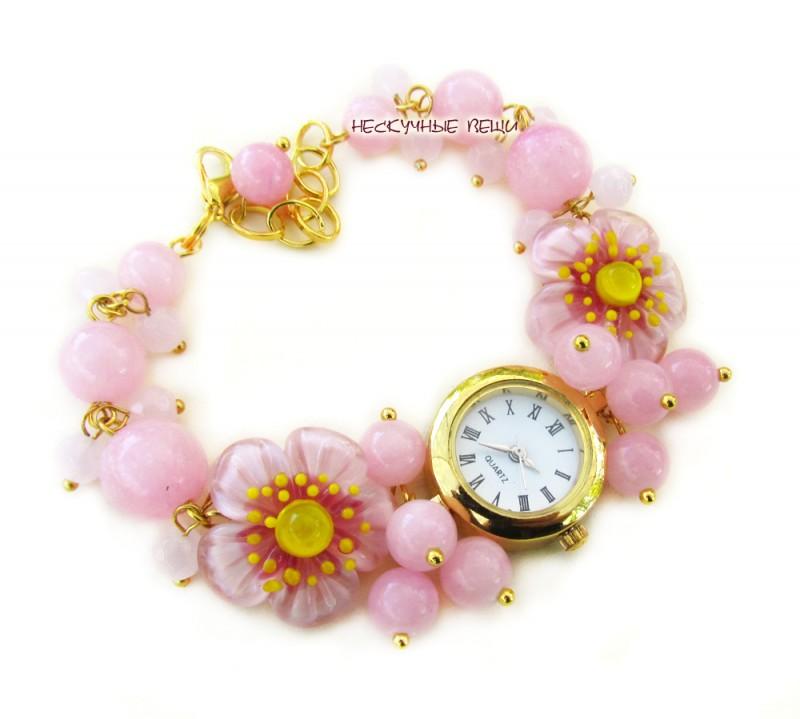 Японская весна-2 наручные часы с бусинами лэмпворк