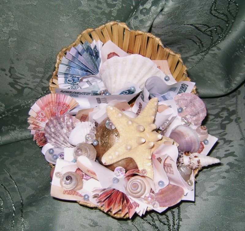 Настольная интерьерная композиция Море денег