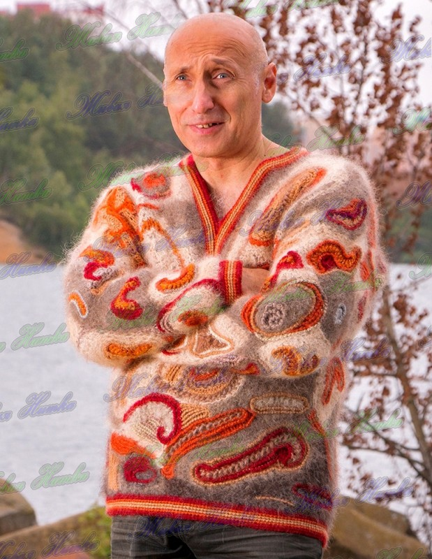Пуловер  «Карибская Сказка» из собачьей шерсти.