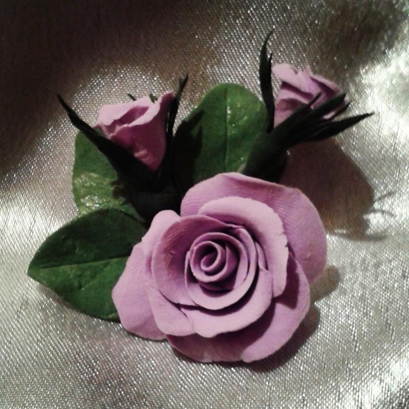 Брошь Розы