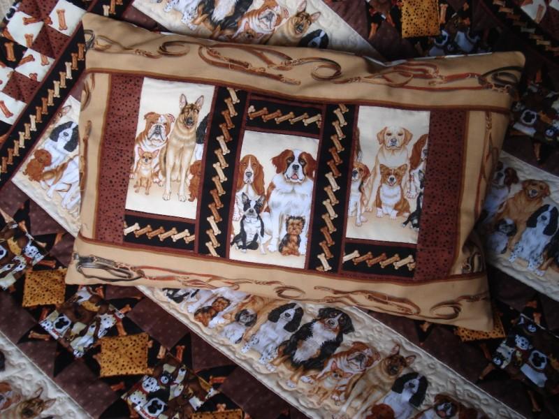Детское лоскутное одеяло Собачки