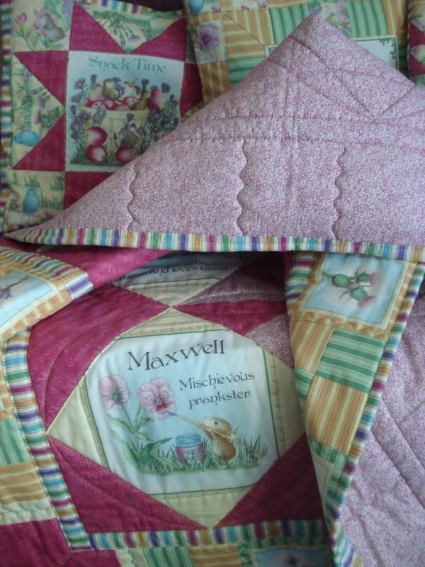 Детское лоскутное одеяло Очаровательные мышки