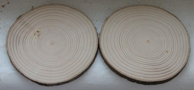 2 спила дерева отшлифованные с одной стороны. 11,5 см диаметр.