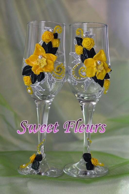 Свадебные бокалы Орхидеи