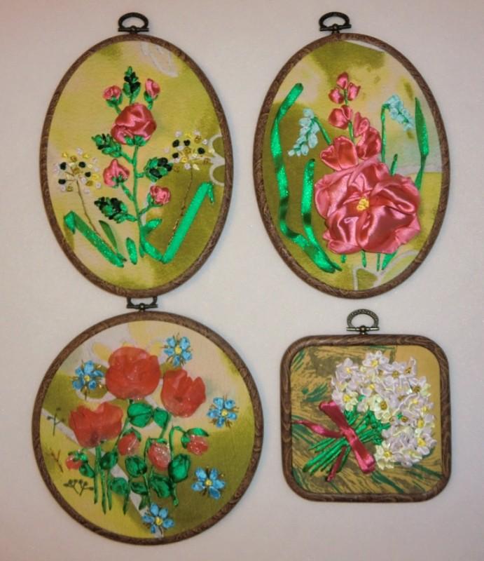 Серия вышитых картин Мои любимые цветы