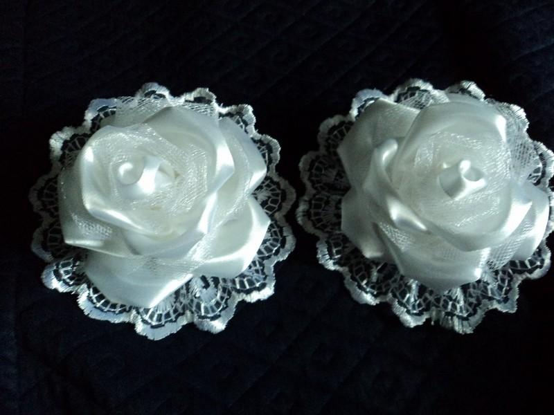 Резинки для волос Белые розы