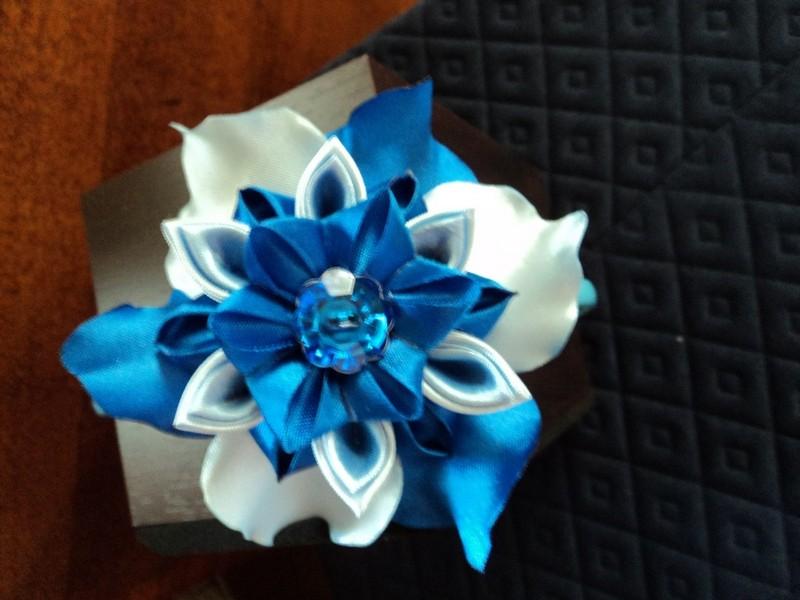 Ободок для волос Синяя волна