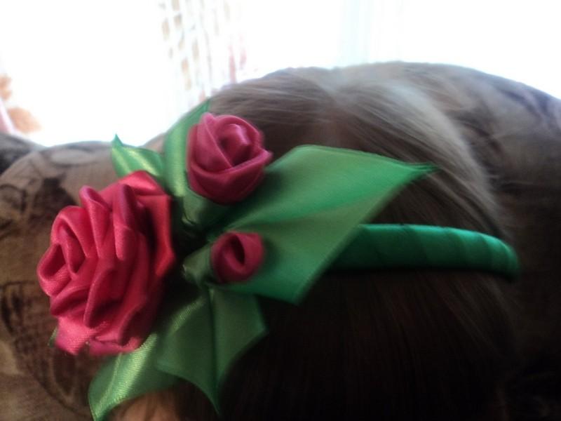 Ободок Букет роз