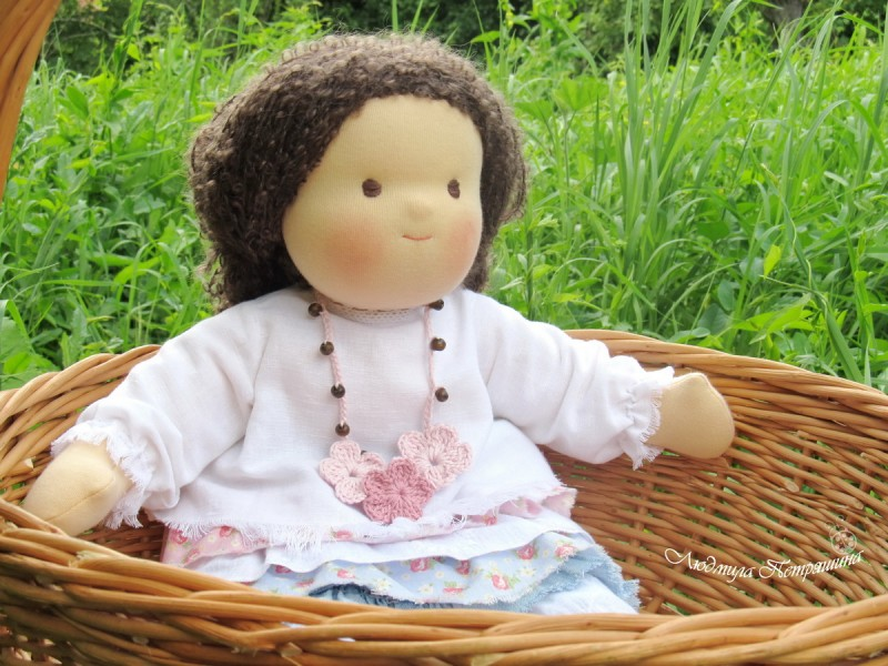 Вальдорфская кукла в стиле Бохо