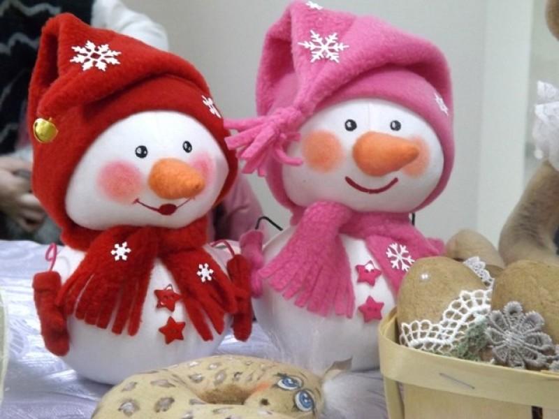 текстильная игрушка Снеговик