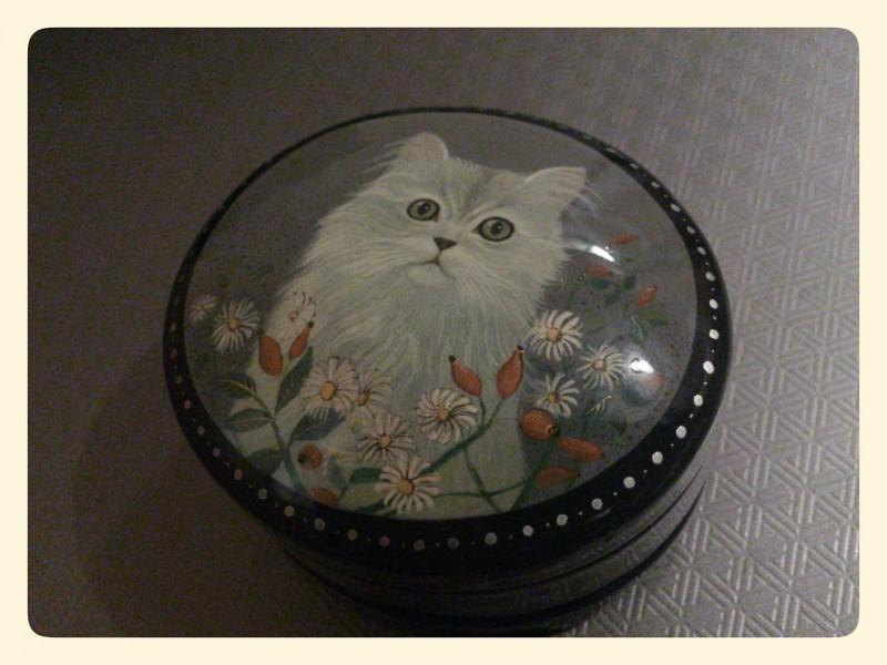 Шкатулка Серый кот.