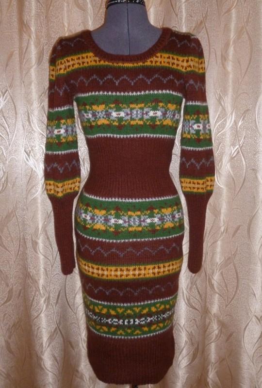 Шерстяное платье Жаккард
