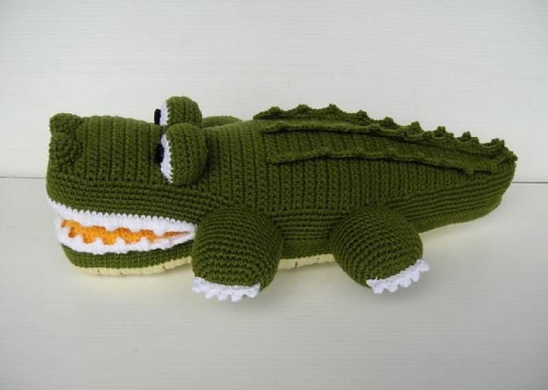 Вязание спицами крокодильчики спицами