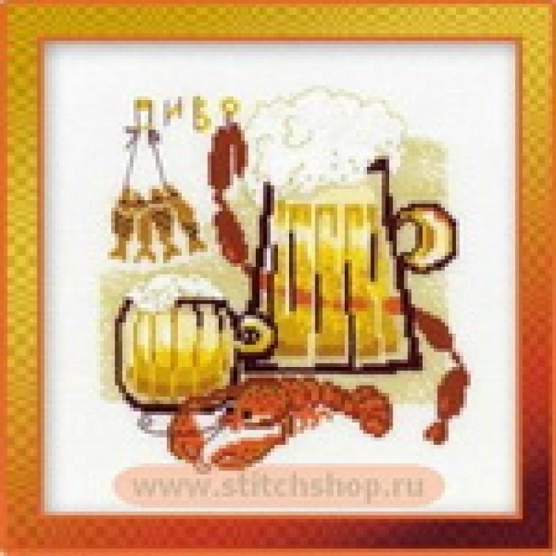 Картина вышивка Пиво