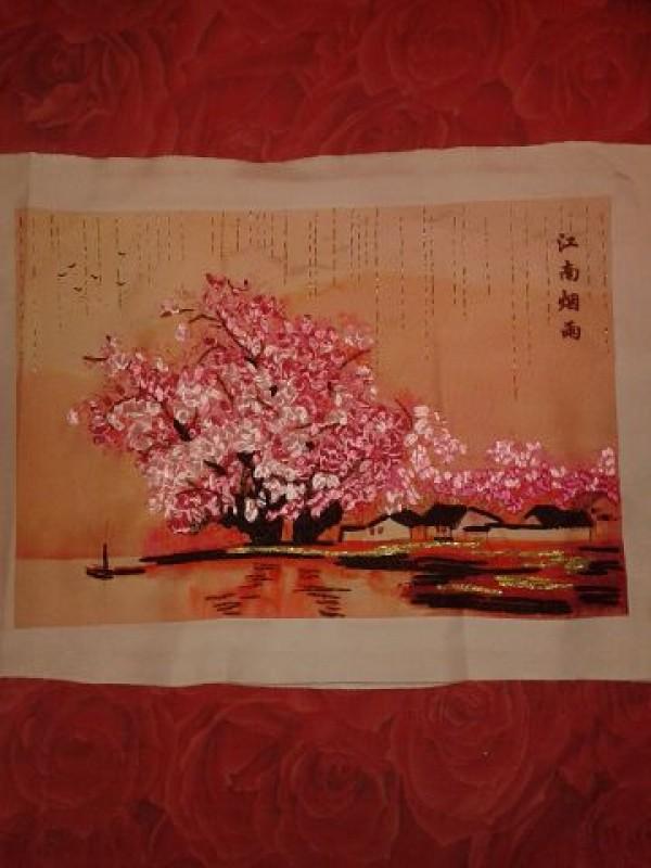 Сакура для вышивки лентами 6