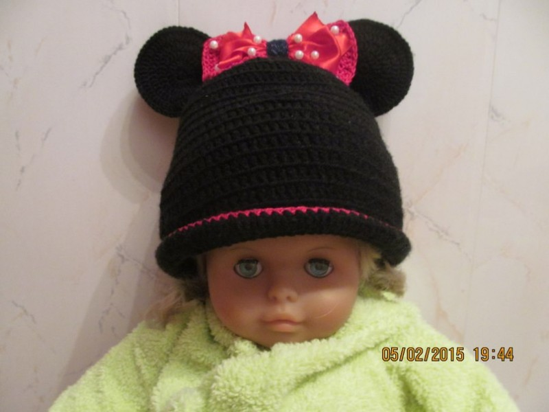 шапка мини-маус