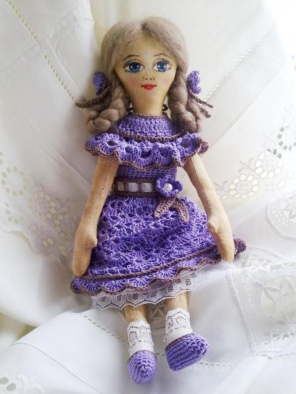 Текстильная кукла Флёр (представлена для примера)