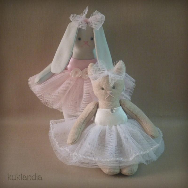 Зверюшки-балеринки, текстильные игрушки