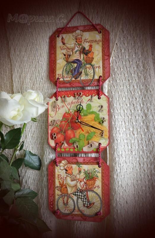 Часы-триптих Весёлые поварята.