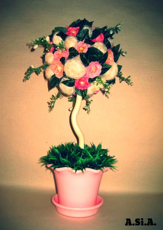 Топиарий (дерево счастья) Розовая мечта