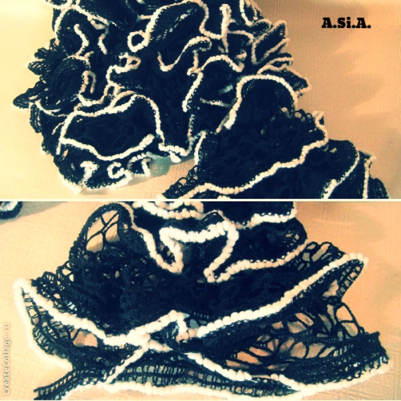 Весенний шарфик, очень красиво дополняет любой образ.