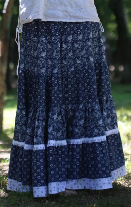 Многоярусная пышная юбка из хлопка Любимая - продана