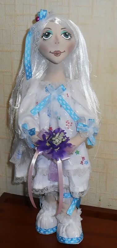 Текстильная будуарная кукла,