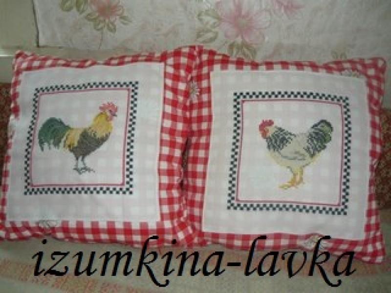 подушки Куриная парочка ( можно по-штучно на заказ)