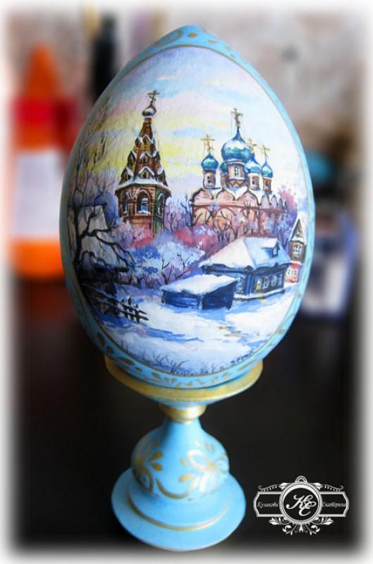 Сувенирное яйцо Зимний вечер