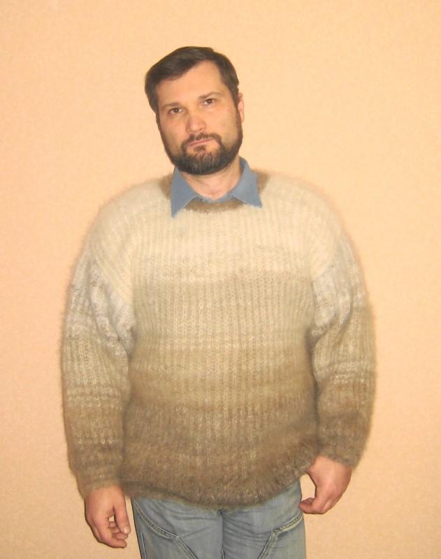 свитер из собачьей шерсти. Образец. Сделаю на заказ. Точная копия не возможна.