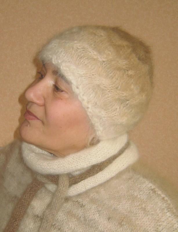 вязаные шапочки из собачьей шерсти