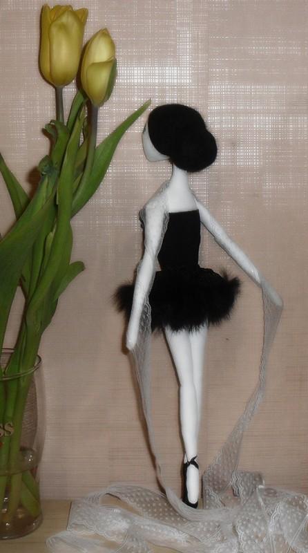 Текстильная кукла, балерина