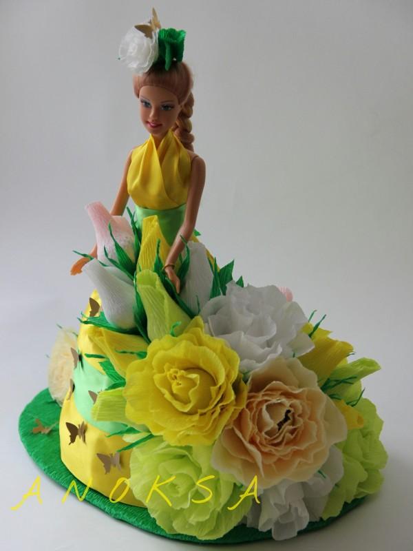Как сделать кукол из цветов 958