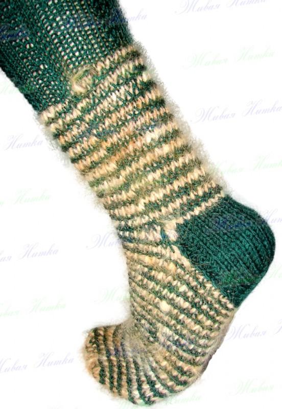 Носки «крокодильчик» спортивные ручного вязания из собачьей шерсти.