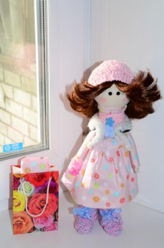 Интерьерная текстильная кукла Марта