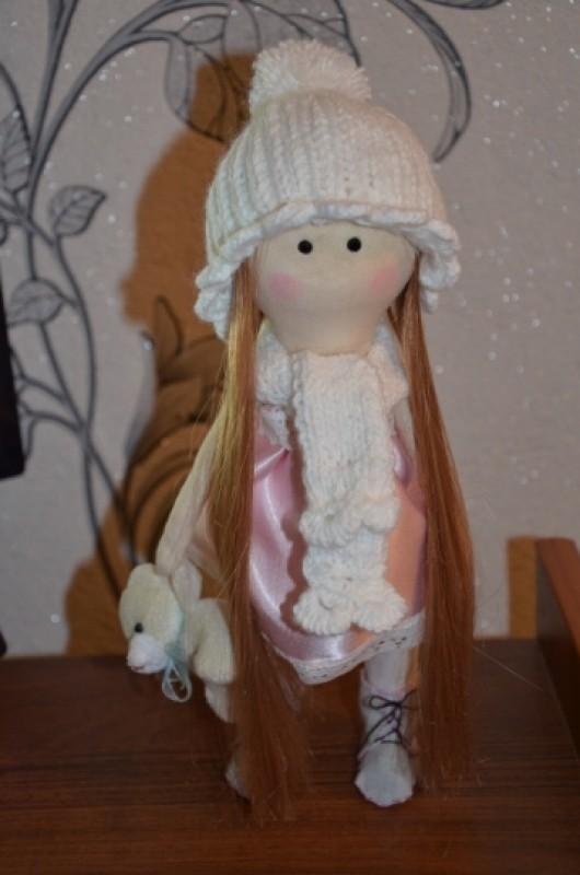 Интерьерная текстильная кукла Лианочка