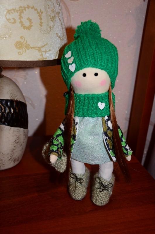 Интерьерная текстильная кукла Милли