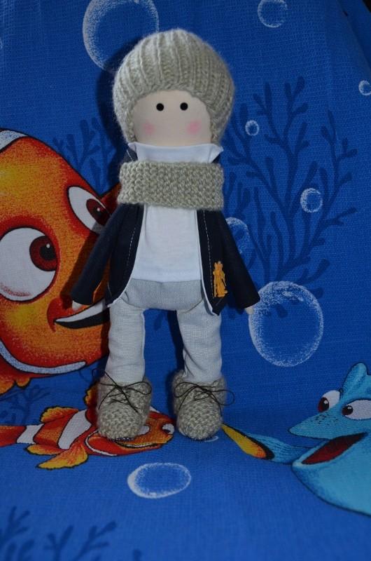 Интерьерная текстильная кукла Максимка