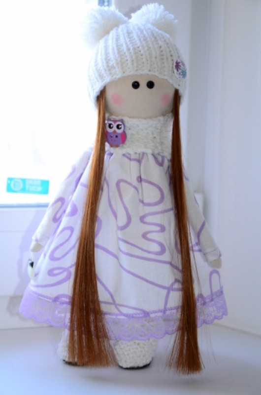 Интерьерная текстильная кукла Зефирка