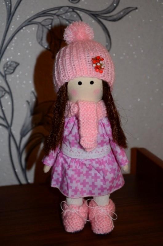Интерьерная текстильная кукла Ариночка