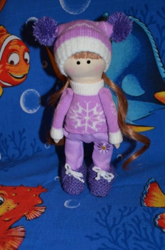 Интерьерная текстильная кукла Николь