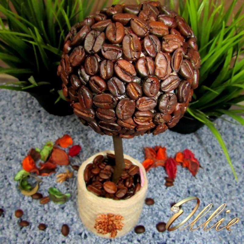 Кофейный топиарий (дерево счастья)