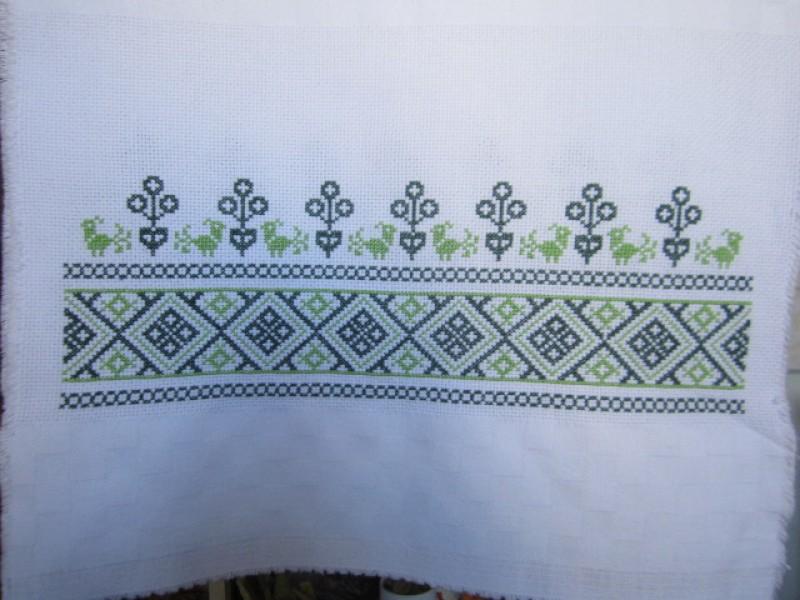 Рушник зеленый