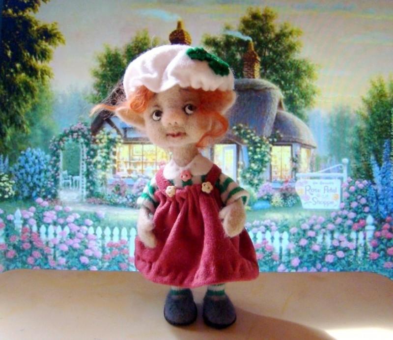 Валяная кукла гномочка До