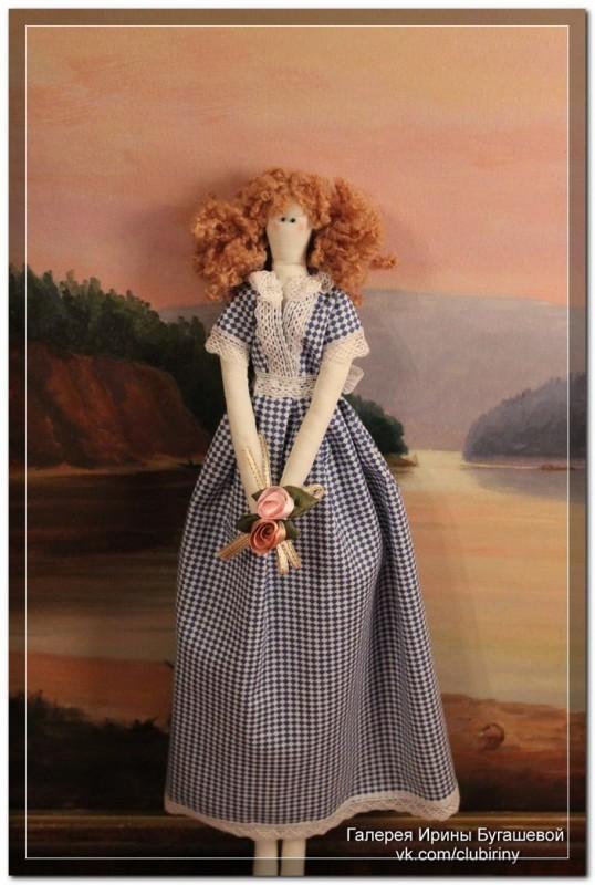 Кукла, сделанная в стиле Тильда, Весна, рост 40 см