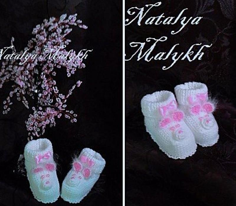 Пинетки Мишкидля новорожденного